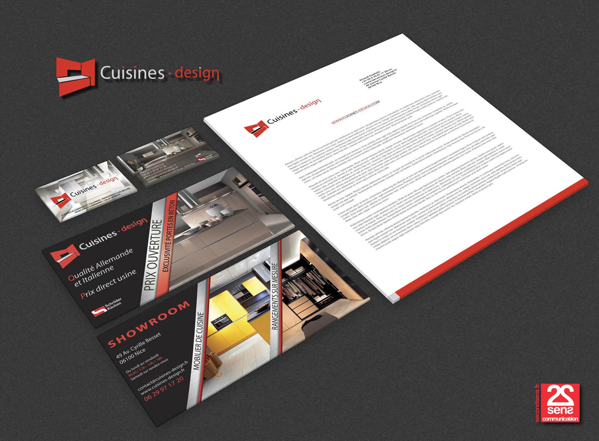 identit visuelle cuisines design agence de communication nice monaco cannes second sens. Black Bedroom Furniture Sets. Home Design Ideas