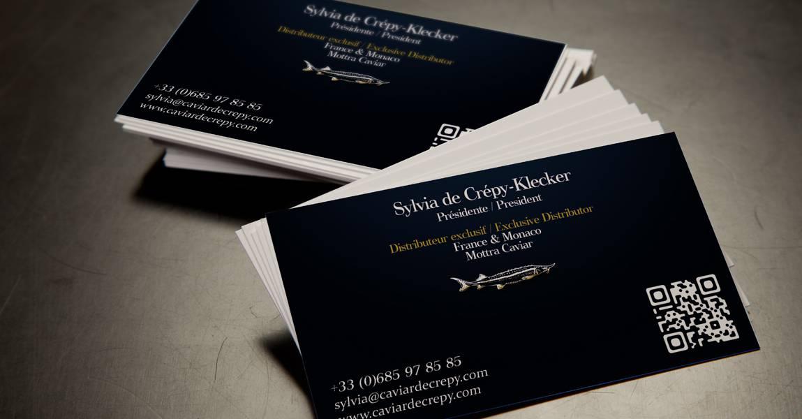 Carte De Visite Caviar Verso